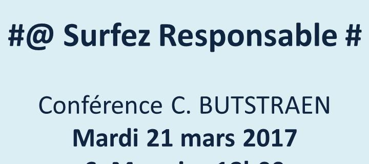 21 mars 2017 – Conférence «Surfez responsable»