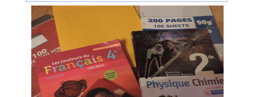 Bourse aux livres et vente de fournitures scolaires – Edition 2017