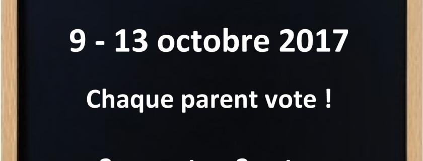 Elections des représentants des parents 2017-2018