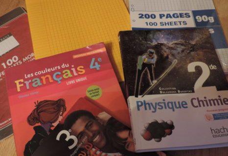 Livres et fournitures scolaires encore disponibles