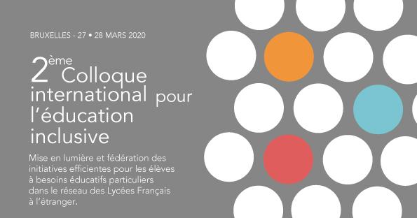 26 septembre  : Présentation officielle  du 2ème Colloque intl pour l'éducation inclusive